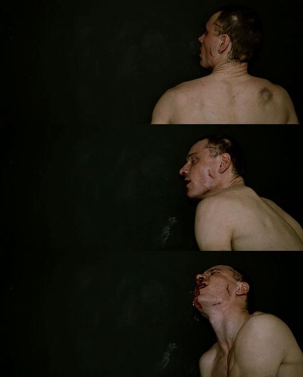 Michael Fassbender as Bobby Sands in HUNGER [Steve McQueen 2008]