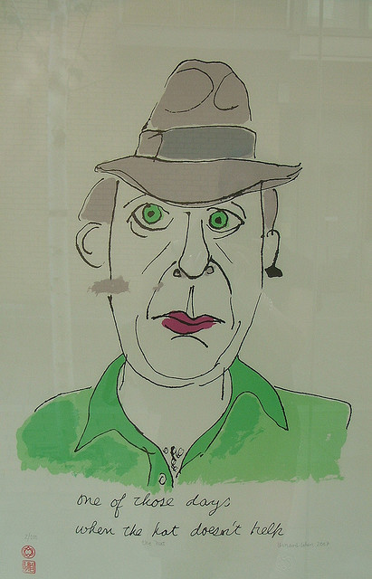 one of those days when the hat doesn't help - leonard cohen