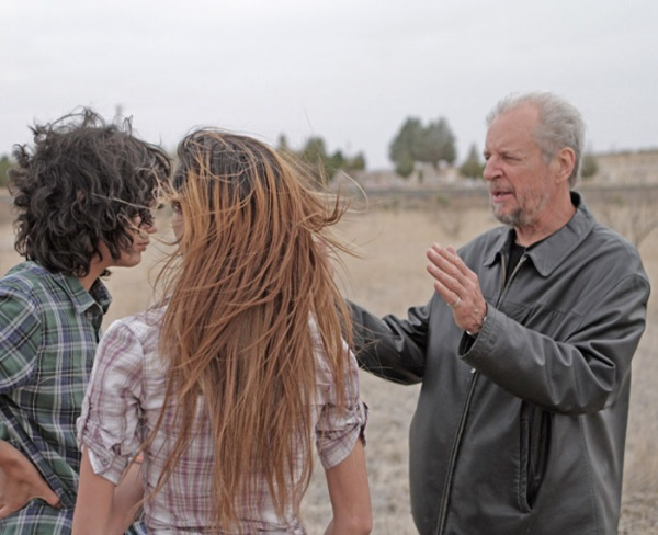 Larry Clark sul set di Marfa Girl