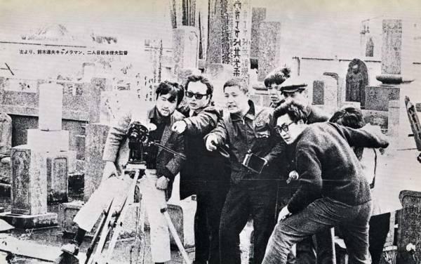 Toshio Matsumoto and his crew shooting Bara no Soretsu